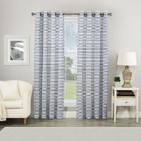 Shoreline 95-Inch Grommet Sheer Window Curtain Panel in Navy