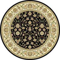 Safavieh Lyndhurst Black Scroll Pattern 5-Foot Round Rug