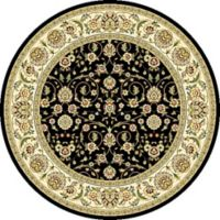 Safavieh Lyndhurst Black Scroll Pattern 8-Foot Round Rug