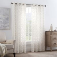 Gia Sheer 108-Inch Grommet Window Curtain Panel in Natural