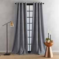 Bedeck Juma Solid 63-Inch Grommet Window Curtain Panel in Grey