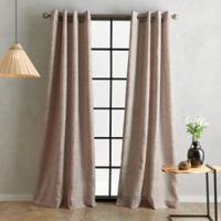 Bedeck Juma Solid 95-Inch Grommet Window Curtain Panel in Linen