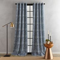 Bedeck Juma Print 95-Inch Grommet Window Curtain Panel in Indigo
