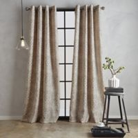 Bedeck Juma Print 95-Inch Grommet Window Curtain Panel in Linen