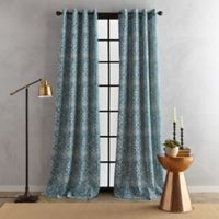 Bedeck Juma Print 95-Inch Grommet Window Curtain Panel in Teal