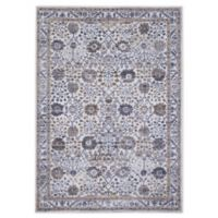 "Home Dynamix Kenmare by Nicole Miller Bordered 7'9"" x 10'2"" Area Rug in Grey/Yellow"