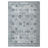 """Home Dynamix Kenmare by Nicole Miller Bordered 7'9"""" x 10'2"""" Area Rug in Grey/Blue"""
