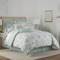 Eva Longoria Celeste Queen Comforter Set in Mint