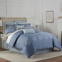 Eva Longoria Lacework Reversible King Comforter Set in Blue