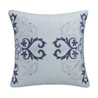 Eva Longoria Lacework Embroidered Square Throw Pillow in Blue