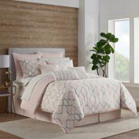 Eva Longoria Ocos Queen Comforter Set in Blush