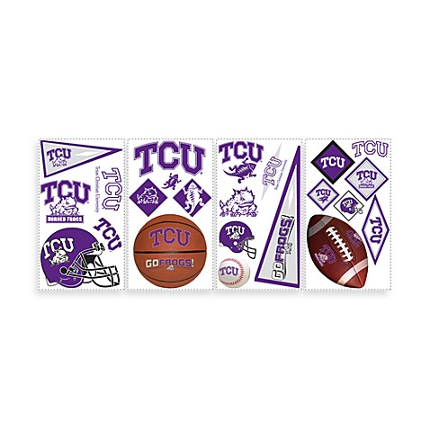 RoomMates Texas Christian University Peel and Stick Wall Decals