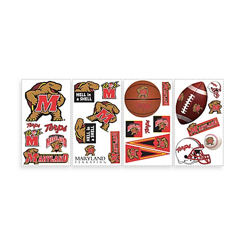RoomMates University of Maryland Peel and Stick Wall Decals