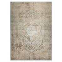 """Home Dynamix Kenmare by Nicole Miller Medallion 5'3"""" x 7'2"""" Area Rug in Grey/Yellow"""