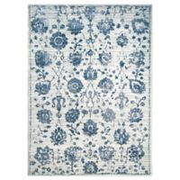 """Home Dynamix Kenmare by Nicole Miller Floral 9'2"""" x 12'5"""" Area Rug in Grey/Blue"""