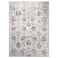 """Home Dynamix Kenmare by Nicole Miller Floral 5'3"""" x 7'2"""" Area Rug in Grey/Yellow"""