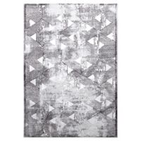 """Home Dynamix Kenmare by Nicole Miller Triangles 9'2"""" x 12'5"""" Area Rug in Grey"""