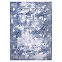 """Home Dynamix Kenmare by Nicole Miller Triangles 5'3"""" x 7'2"""" Area Rug in Grey/Blue"""