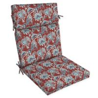 Arden Selections™ Caspian Print Outdoor Dining Chair Cushion in Red