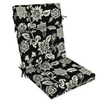 Arden Selections™ Jacobean Print Outdoor Dining Chair Cushion in Black/White