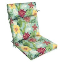 Arden Selections™ Tropical Print Outdoor Dining Chair Cushion in Turquoise