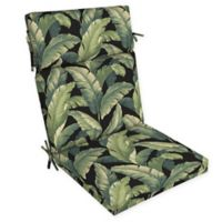 Arden Selections™ Medallion Print Outdoor Dining Chair Cushion in Black/Green