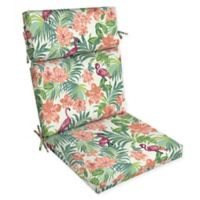Arden Selections™ Tropical Flamingo Print Outdoor Dining Chair Cushion in Cream/Multicolor