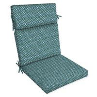 Arden Selections™ Alana Print Outdoor Dining Chair Cushion in Blue/Green