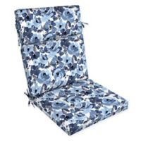 Arden Selections™ Garden Print Outdoor Dining Chair Cushion in Blue/Cream