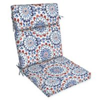 Arden Selections™ Medallion Print Outdoor Dining Chair Cushion in Red/White/Blue
