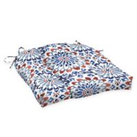 Arden Selections™ Medallion Print Outdoor Wicker Seat Cushions in Red/White/Blue (Set of 2)