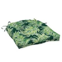 Arden Selections™ Tropical Print Outdoor Wicker Seat Cushions in Green (Set of 2)