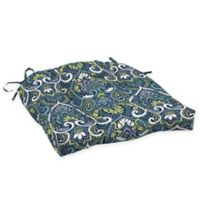 Arden Selections™ Aurora Print Outdoor Wicker Seat Cushions in Blue (Set of 2)
