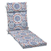 Arden Selections™ Medallion Print Outdoor Chaise Lounge Cushion in Red/White/Blue