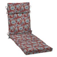 Arden Selections™ Alana Print Outdoor Chaise Lounge Cushion in Red