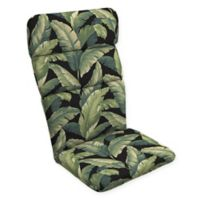 Arden Selections™ Palm Print Outdoor Adirondack Chair Cushion in Black/Green