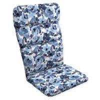 Arden Selections™ Garden Print Outdoor Adirondack Chair Cushion in Blue/Cream