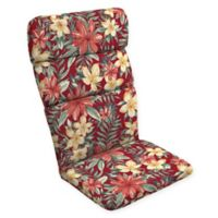 Arden Selections™ Tropical Print Outdoor Adirondack Chair Cushion in Ruby Red