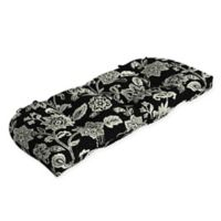 Arden Selections™ Jacobean Print Outdoor Wicker Settee Cushion in Black