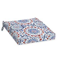 Arden Selections™ Medallion Print Welted Dining Seat Cushions in Red/White/Blue (Set of 2)