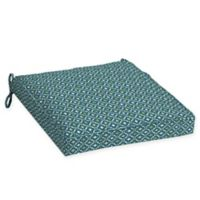 Arden Selections™ Alana Print Outdoor Welted Dining Seat Cushions in Blue/Green (Set of 2)