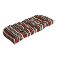 Arden Selections™ Abella Striped Outdoor Wicker Settee Cushion
