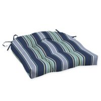 Arden Selections™ Aurora Striped Outdoor Wicker Seat Cushions in Blue (Set of 2)
