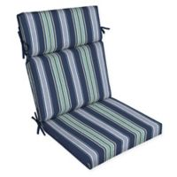 Arden Selections™ Aurora Striped Outdoor Dining Chair Cushion in Blue