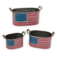 Gerson Americana Metal Nesting Buckets (Set of 3)