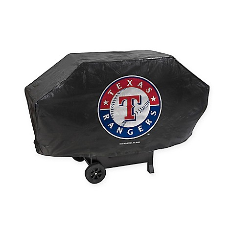 MLB Texas Rangers Deluxe Barbecue Grill Cover