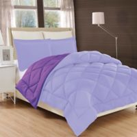 All Season Reversible Down Alternative Twin Comforter in Lilac/Purple