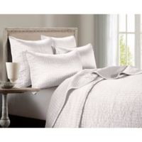 HiEnd Accents Channel Satin Full/Queen Quilt in White