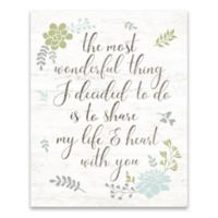 "Artissimo Designs™ ""Most Wonderful Thing"" Multicolor Canvas Wall Art"