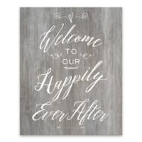 """Artissimo Designs™ """"Welcome To Our Happily Ever After"""" Multicolor Canvas Wall Art"""